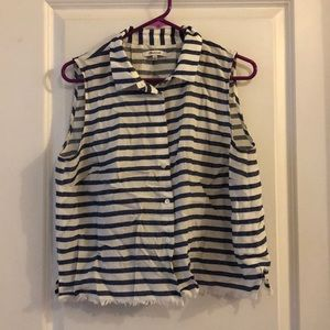 Madewell sleeveless striped shirt. Large.